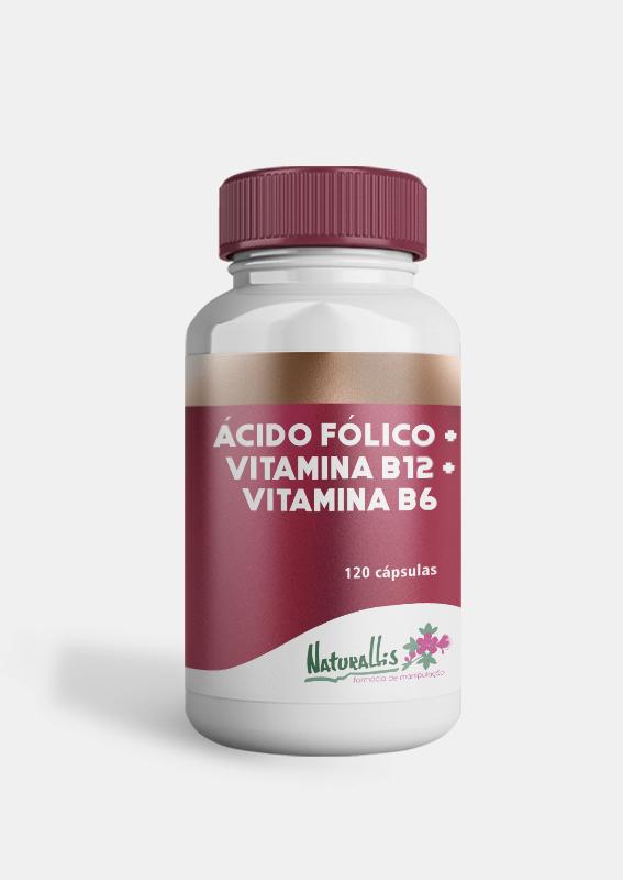 Ácido Fólico 5mg + Vitamina B12 2mg + Vitamina B6 10mg